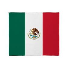 Mexico Flag Throw Blanket