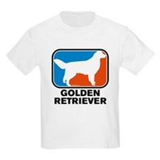 RWB Golden Retriever Kids T-Shirt (Style 1)