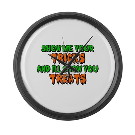 Show Me Your Tricks Large Wall Clock