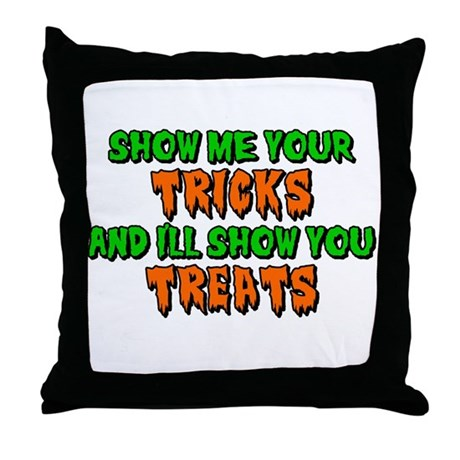 Show Me Your Tricks Throw Pillow