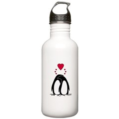Loving Penguins Water Bottle