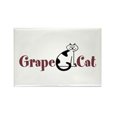 Grape Cat Rectangle Magnet (10 pack)