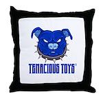 Tenacious Toys Blue Pitbull Throw Pillow