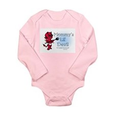 Mommy's Lil' Devil Tattoo Long Sleeve Infant Bodys