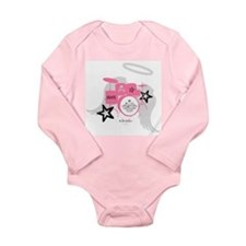 Pink Baby Drums Long Sleeve Infant Bodysuit