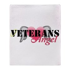 Veterans Angel Throw Blanket
