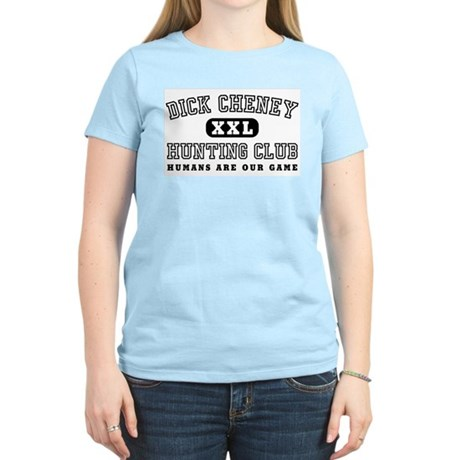 Dick Cheney Hunting Club Womens Pink T-Shirt
