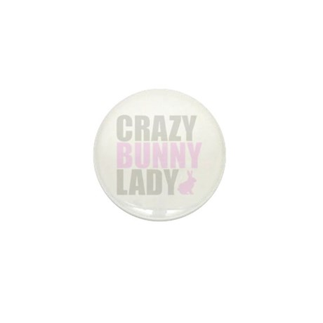 CRAZY BUNNY LADY Mini Button