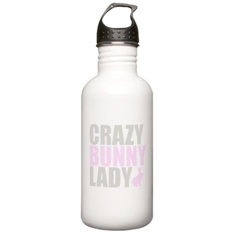 CRAZY BUNNY LADY Stainless Water Bottle 1.0L