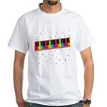 Colorful Piano White T-Shirt