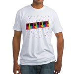Colorful Piano Fitted T-Shirt