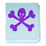 PurpleSkull&Crossbones Infant Blanket