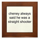 Cute Cheney accident Framed Tile