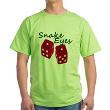 Gambling Snake Eyes Dice T-Shirt