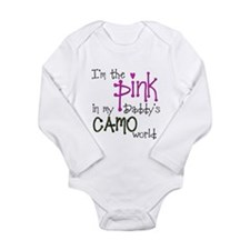 Cute Canadian forces Long Sleeve Infant Bodysuit