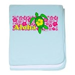 Aloha Hawaii Turtle Infant Blanket