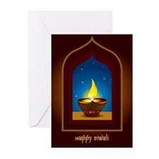 Happy Diwali Greeting Cards (Pk of 10)