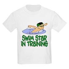 Swim Star in Training Andrew Kids T-Shirt