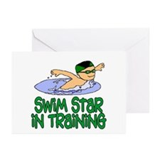 Swim Star in Training Andrew Cards (6 Blank)