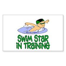 Swim Star in Training Andrew Rectangle Sticker