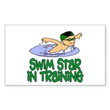 Swim Star in Training Andrew Rectangle Decal