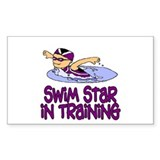 Swim Star in Training Isabella Sticker (Rectangula