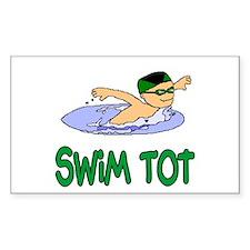 Swim Tot Andrew Rectangle Sticker