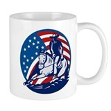 rodeo horse cutting Coffee Mug
