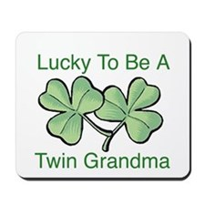 Lucky To Be A Twin Grandma Mousepad