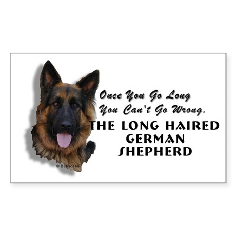 New Item! Long Haired German Shepherd Sticker