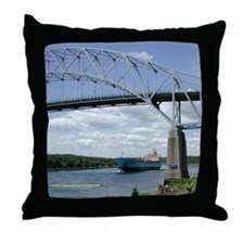 Cape Cod Canal & Tanker Throw Pillow