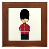 British Royal Guard Framed Tile