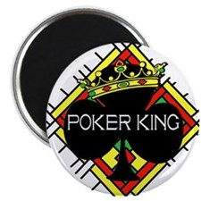 "Poker King/Crown 2.25"" Magnet (10 pack)"