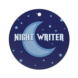 Night Writer Ornament (Round)
