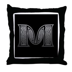 M Monogram Throw Pillow
