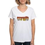 Snowmobile or Die Women's V-Neck T-Shirt