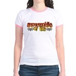 Snowmobile or Die Jr. Ringer T-Shirt