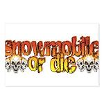 Snowmobile or Die Postcards (Package of 8)