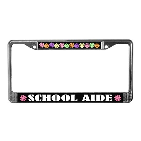 School Aide License Plate Frame
