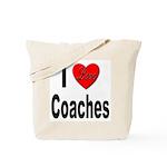 I Love Coaches Tote Bag