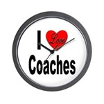 I Love Coaches Wall Clock