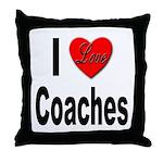 I Love Coaches Throw Pillow