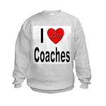 I Love Coaches (Front) Kids Sweatshirt