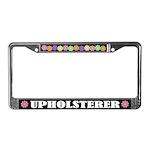 Upholsterer License Plate Frame