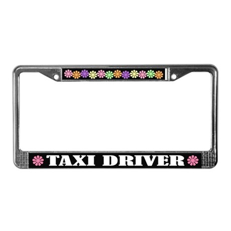 Taxi Driver License Plate Frame
