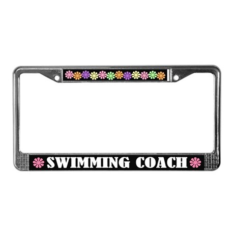Swim Coach License Plate Frame