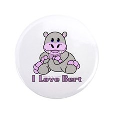 "Bert the Hippo 3.5"" Button"