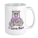 Bert the Hippo Large Mug