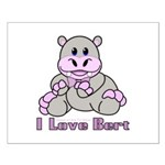 Bert the Hippo Small Poster