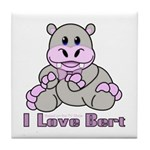 Bert the Hippo Tile Coaster